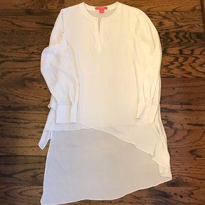 Catherine Malandrino White high low blouse
